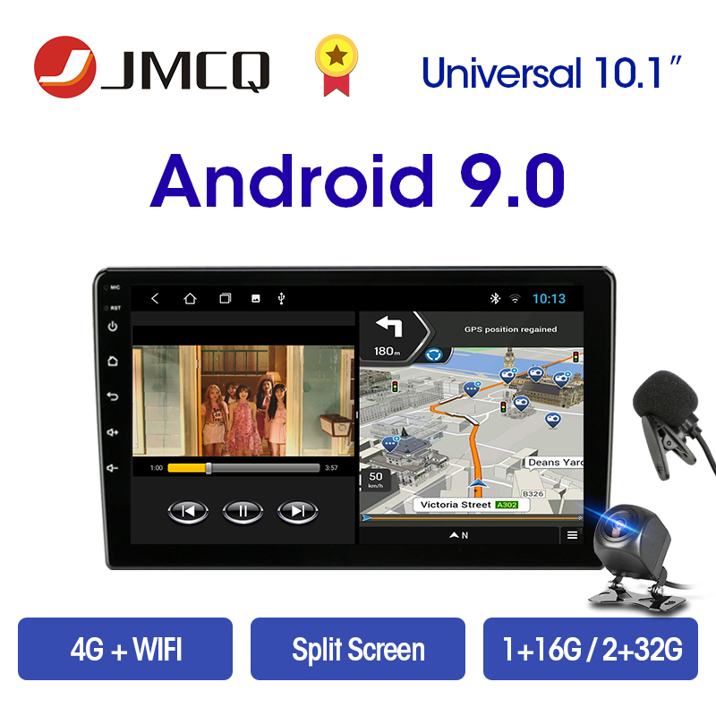 JMCQ 2 Din Android 9.0 2+32G 4G NET 9/10.1 Inch Car Radio Multimedia Video Player 2Din Navigation GPS FM For Nissan Kia Honda VW
