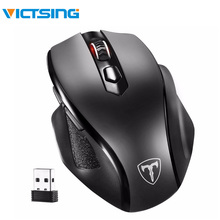 VicTsing mm057 Wireless Mouse Upgraded 2400DPI Adjustable Full Size Ergonomic Design For Laptop/Notebook/PC/Computer