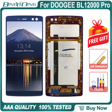 100% الأصلي ل DOOGEE BL12000 برو LCD و محول الأرقام بشاشة تعمل بلمس مع الإطار وحدة شاشة عرض إصلاح استبدال الملحقات