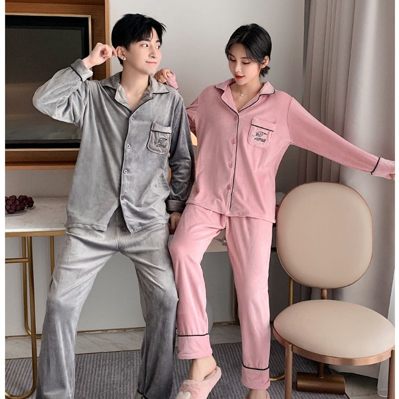 Women's pajamas couple suit warm and comfortable home service long sleeve trousers casual pajamas new arrival <font><b>camison</b></font> <font><b>sexy</b></font> <font><b>mujer</b></font> image
