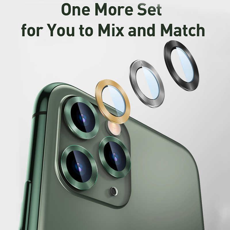 Baseus 0.4mm אחורי מצלמה טבעת עבור iPhone 11 מצלמה עדשת מסך מגן עבור iPhone 11 פרו מקס זכוכית חזרה כיסוי הגנת מקרה