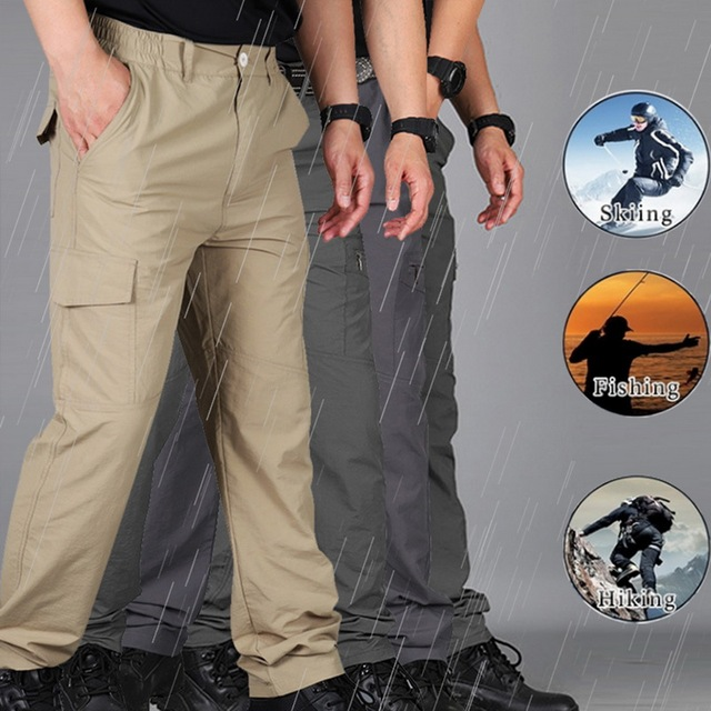 SHUJIN Men Cargo Pant Men Multi-Pocket Overall Male Combat Trousers Casual Tooling Pants Army Green Cargo Pants Men Size S-4XL 6