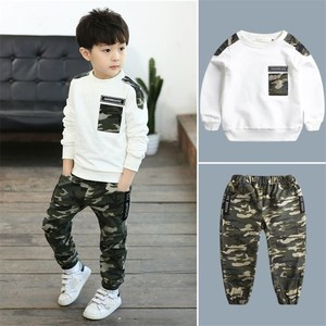 Kids Sport Clothing Sets Boys Tracksuit Autumn Camouflage Children Tops Pants 2Pcs Kit Outfit Teenager Boys Camouflage Tracksuit