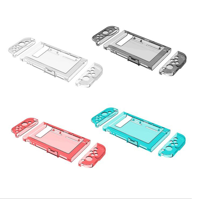 Crystal Transparent Clear PC Hard Case Protective Cover Shell for Nintend Switch Console Joy Con Controller Full Body Protector