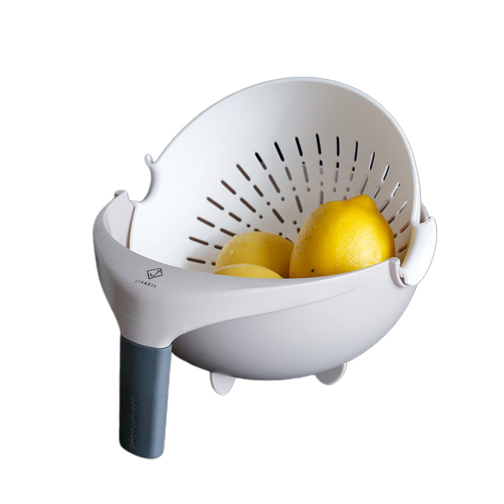 Washing-Drain Pp-Material with Handle-Basket Strong Fine-Holes Double-Layer title=