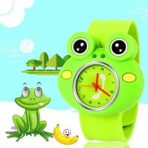 Kreskówka żaba zegarek dzieci zegarki dla dziewczynek chłopcy zegar miłość zegarki dla dzieci gumowy kwarcowy dziecko dziecięcy zegarek prezent Relogio Infantil