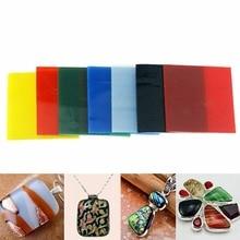 7 листов/набор COE 90 7 цветов квадратная печь Bullseye ПЛАВЛЕНИЯ СТЕКЛА 52*52*3 мм для микроволновой печи DIY ювелирных изделий