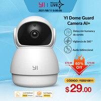 YI Kuppel Wache Kamera 1080p Wifi Kamera Menschliches Pet AI Webcam Ip Kamera Sicherheit Home Indoor Cam Pan & tilt 360 video recorder cam