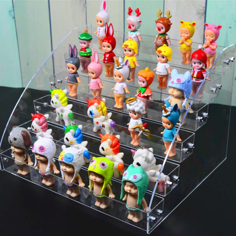 Biqi Bubble Mart Acrylic Display Stand Blind Box Display Stand Multi-layer Hand Show Display Doll Show Nail Polish Rack