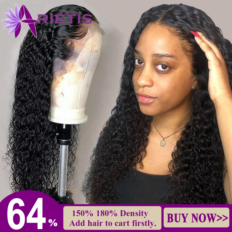 Kinky Curly Lace Front Human Hair Wigs For Black Women Deep Wave Curly 360 Lace Frontal Wig Indian Afro 10-24 Inches Water Wig