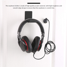 Headphone Wall-Mounted Sticker Under-Desk Hook Sticky-Display-Stand Acrylic 1/2pcs