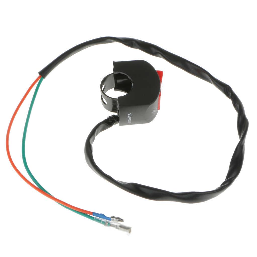"""Czarny motocyklowy przełącznik przeciwmgielny 7/8 """"kierownica 12V DC instalacja elektryczna"""