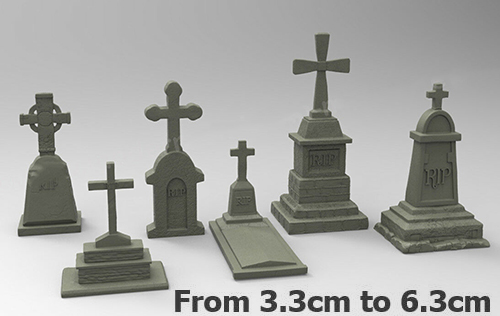 1/35   Grave  (include 6 ) From 3.3cm To 6.3cm Resin Figure Model Kits Miniature Gk Unassembly Unpainted