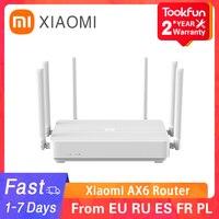 Xiaomi-enrutador inalámbrico Redmi AX6, repetidor de 6 antenas PPPOE, 2020 Mbps, malla WIFI 6, 2976G/5G, Frecuencia Dual, 2,4 MB OFDMA, novedad de 512