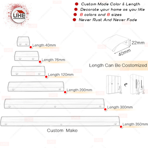 Image 2 - Poignées de meubles pour armoires et tiroirs, 6 tailles, 7 couleurs disponibles au choix, livraison gratuite