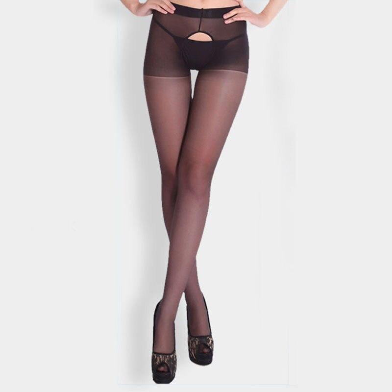 Nuevas medias Sexy para mujer, pantimedias elásticas con entrepierna abierta, medias de seda con agujeros, pantis para mujer, medias S6002