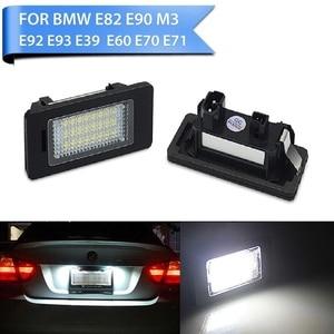 Image 1 - 2 PCS License Plate Light  Led Number Plate Holder Lamp No Error For BMW E39 E60 E60N E61 E90 E91 E90N E92 E93 E46 CSL E82
