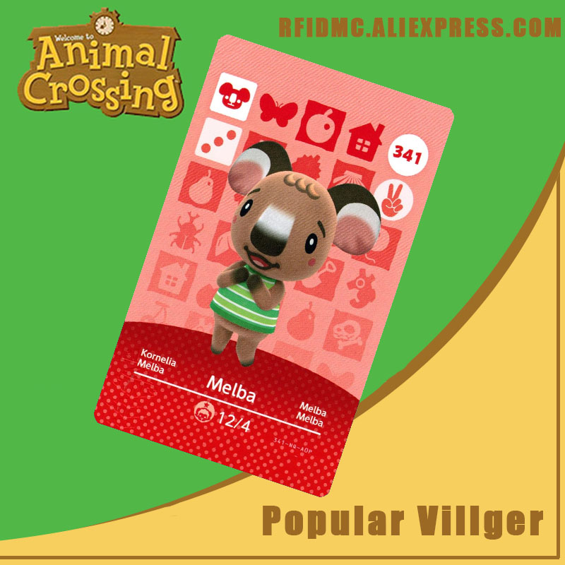 341 Melba Animal Crossing Card Amiibo For New Horizons