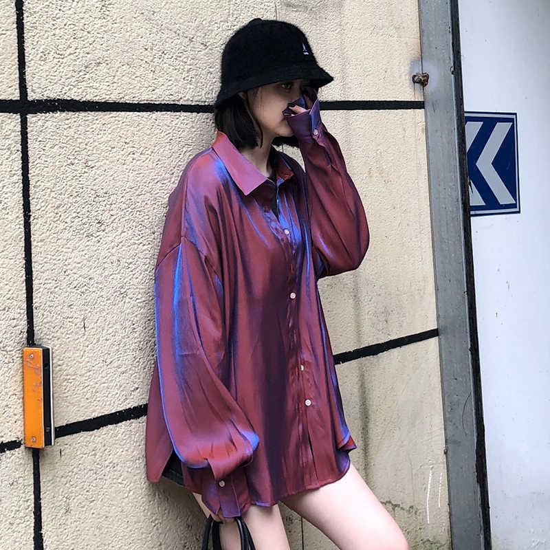 저렴한 도매 2019 새로운 봄 여름 가을 뜨거운 판매 여성 패션 캐주얼 숙녀 작업 셔츠 MP614