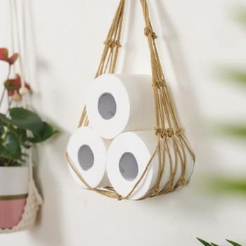 Porte papier toilette corde
