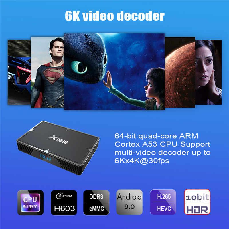 4000 + LiveTv EVDTV X96H アンドロイド 9.0 IPTV アラビア英国米国ポルトガルスペインポーランドスウェーデンイランイスラエルフランスコードセットトップボックス