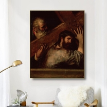 Canvas Art Oil Painting《Carring of the Cross》Titian Vecellio Poster Picture Wall Decor Modern Home Decoration For Living room