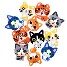 Charms Craft Jewelry Back-Accessories Animal-Decoration Flat Cute Cat for Kids DIY Shoes