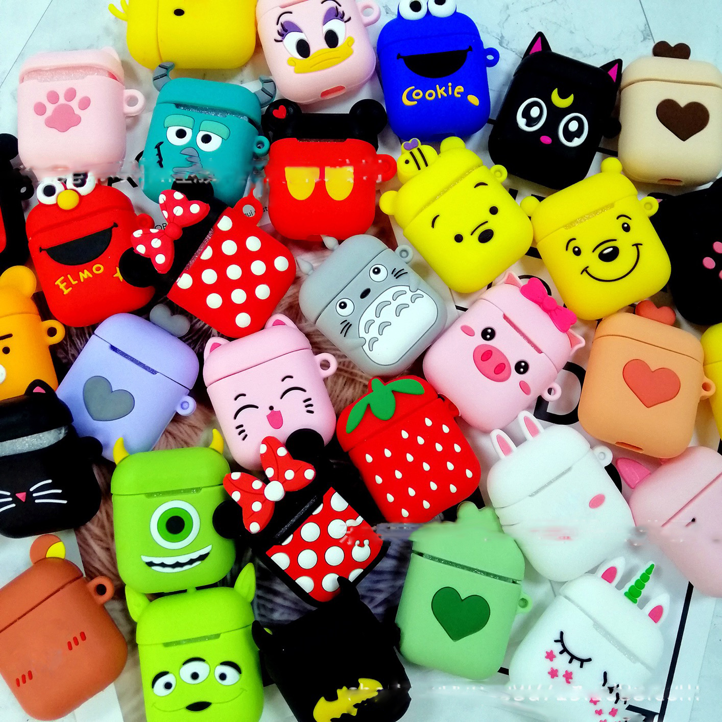 For AirPods 1/2 Case Cute Cartoon Silicon Protective Cover Cat Animal Earphone Case For AirPods 2 Headphone Case Funda