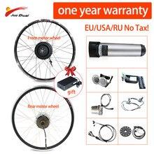 JS kit de Conversion de vélo électrique avec batterie de fond 36V 10A 500W moteur Ebike Kit de Conversion LCD/LED disque d'affichage/V frein