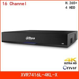 Dahua 4K H.265 + 16 канальный видеорегистратор XVR HDCVI/AHD/TVI/CVBS автоматическое обнаружение смарт-вентилятора распознавание лица и IVS