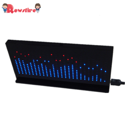 DIY Kit de cubo de luz AS1424 espectro de música LED pantalla amplificador de Audio modificación ritmo lámpara-producto terminado negro