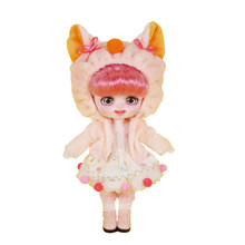 Dream Fairy 1/8 Dolls 6 inch Cute Animal Dress Up BJD Doll Makeup DIY Toy Mini Pocket Doll Christmas Gift for Girls
