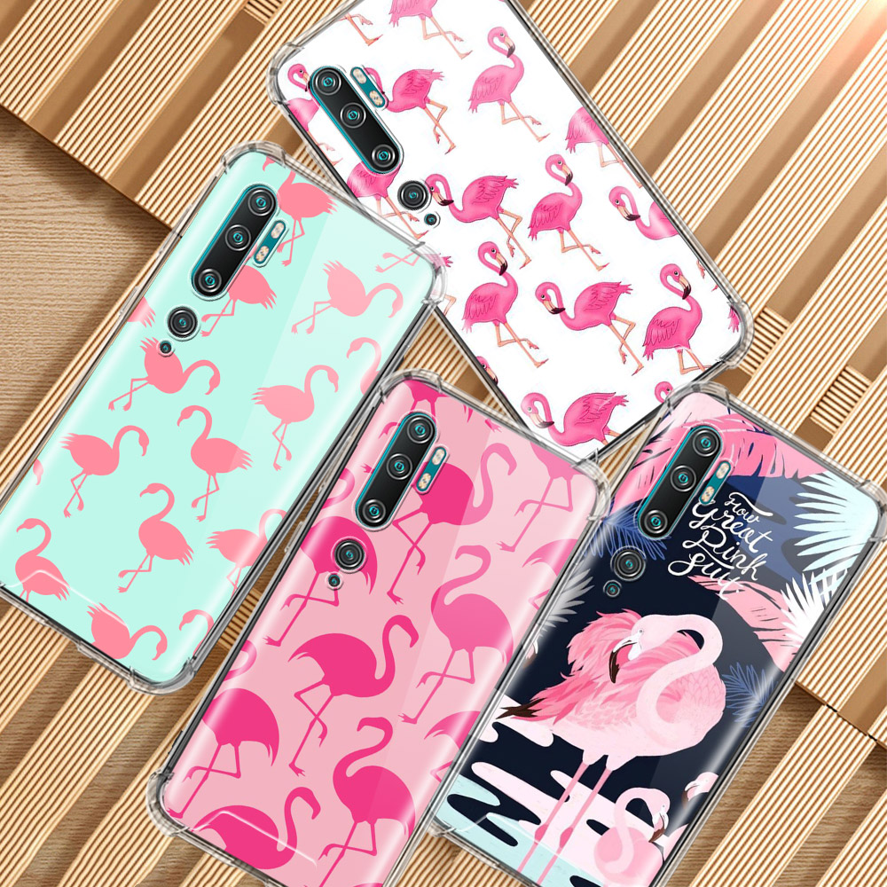 Pink Red Flamingo Bird Case For Xiaomi Mi Note 10 Pro 5G 9T A3 A2 8 Lite CC9 CC9E Poco X2 F1 Airbag Anti Cas Phone Capas