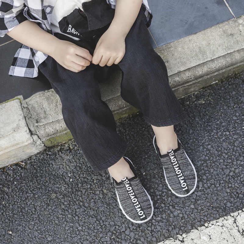 ילדי בני פעוט ילדה סניקרס תינוק מזדמן סטודנטים סניקרס קיד נעלי ארוג רשת נעלי Tenis Infantil Menino ללא ילדים להחליק