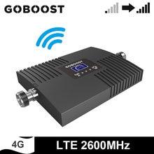 Goboost fdd lte 2600 mhz celular sinal impulsionador 4g telefone celular repetidor banda 7 única banda amplificador de rede