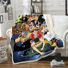 Anime One Piece 3D Printing Plush Fleece Blanket Adult Fashion Quilts Home Office Washable Duvet Casual Kids Sherpa Blanket 04