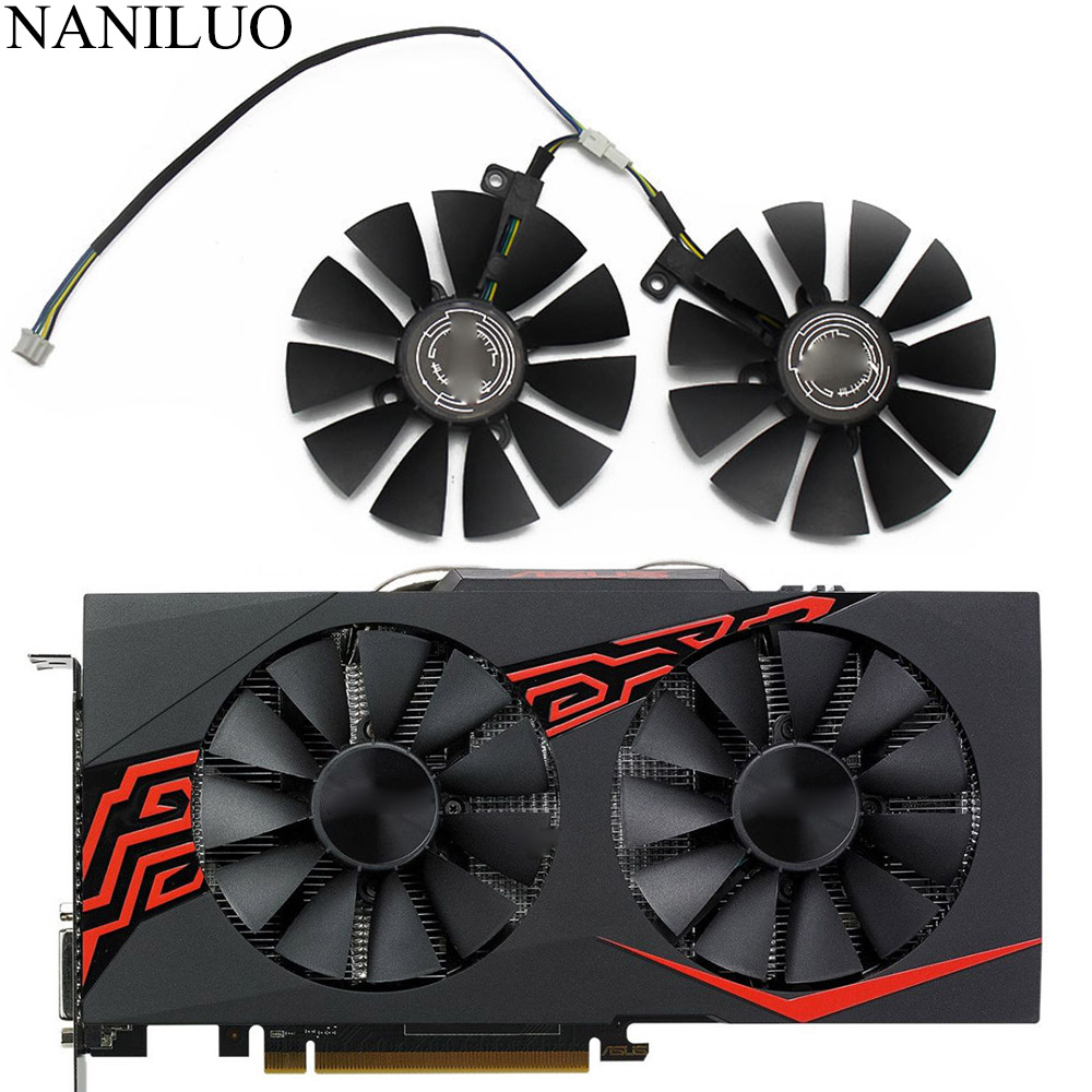88MM T129215SU DC 12V 4Pin P106-100 GTX1060 GTX1070 Cooler Fan For ASUS AREZ GeForce GTX 1060 1070 GAMING OC Graphics Video Card image