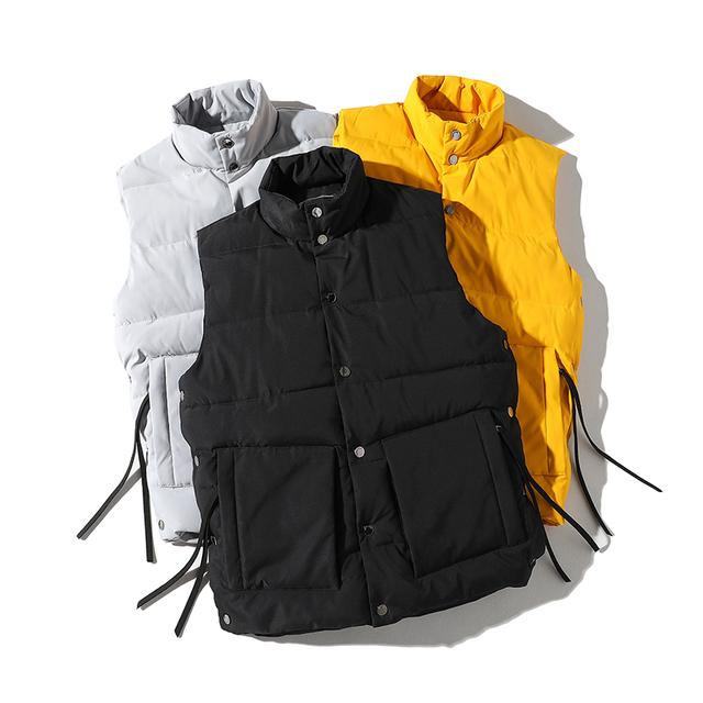 2019 New Men Winter Warm Vest coat Mens Hip hop Sleeveless Jacket Men Slim Fit Waistcoat Casual Man Outwear ABZ565
