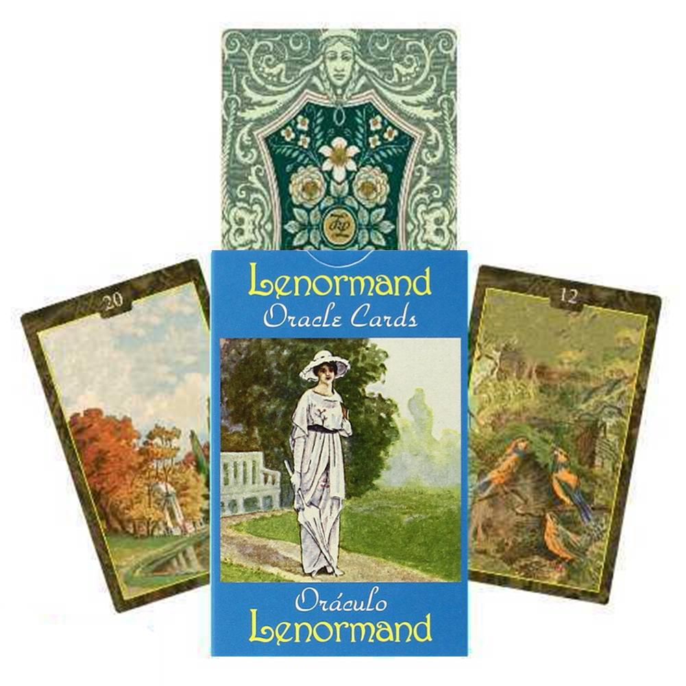 44PCS Lenormand Oracle Cards Tarot Cards Deck Table Games Durable For Party Fun Playing Card Board Game Tarot Card Entertainment