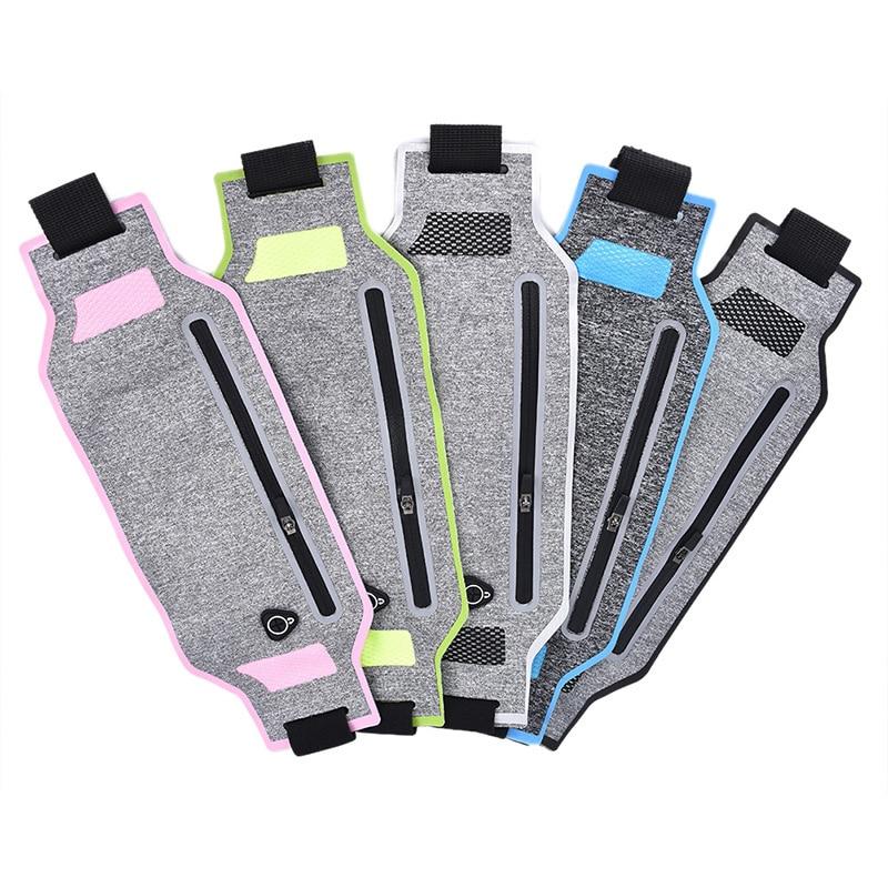 Fashion 1PCS Ultra-thin Waist Pouch Running Sport Bum Bag Pack Travel Belly Waist Money Belt Zip Hiking Pouch Wallet Belt Bags
