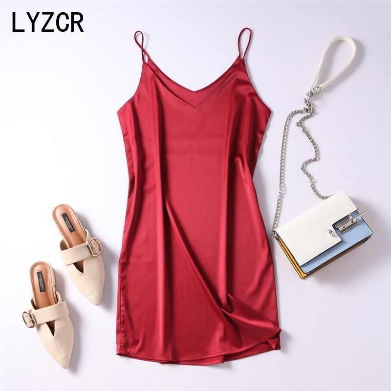 Sommer Tank Silk Kleid Sexy Leibchen Fleck Rot Kleider Für Frau Sexy V-ausschnitt Weibliche Hause Strand Damen Kleider Camis kleid