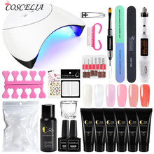 Verlengen Builder Poly Gel Nagel Set Quick Extension UV LED Hard Gel Acryl Builder Gel Met Nail Lamp(China)