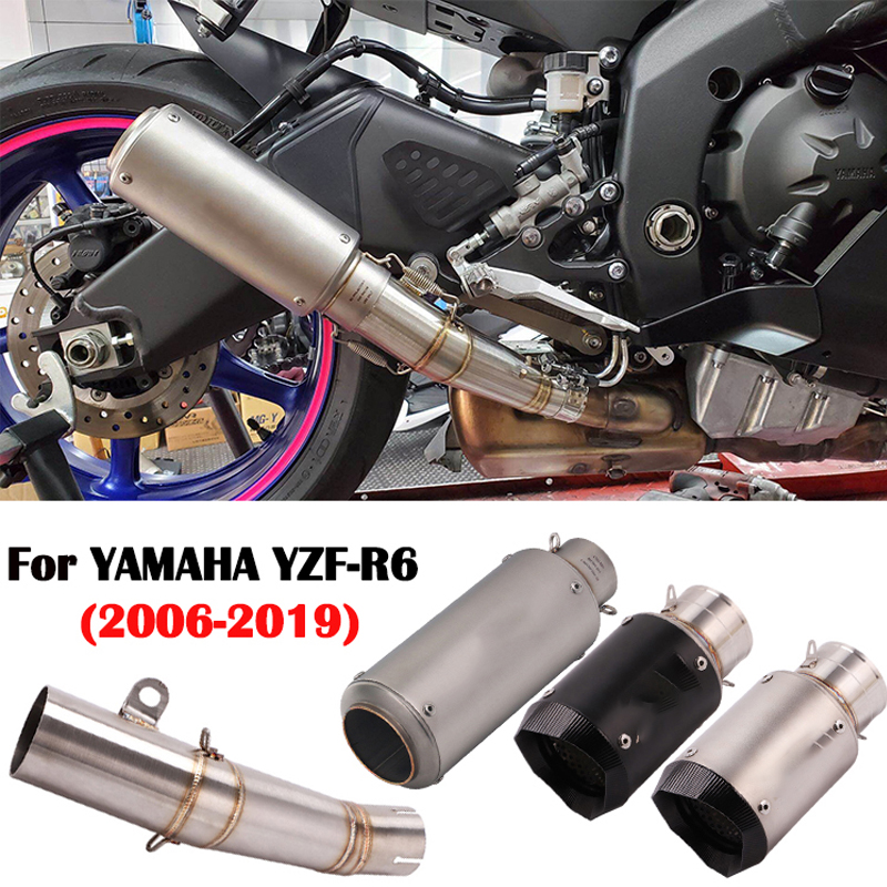 61 мм мотоцикл Mofidy выхлопная труба мото модифицированное соединение средняя труба с дБ убийцей для YAMAHA R6 YZF-R6 2006-2020 R6