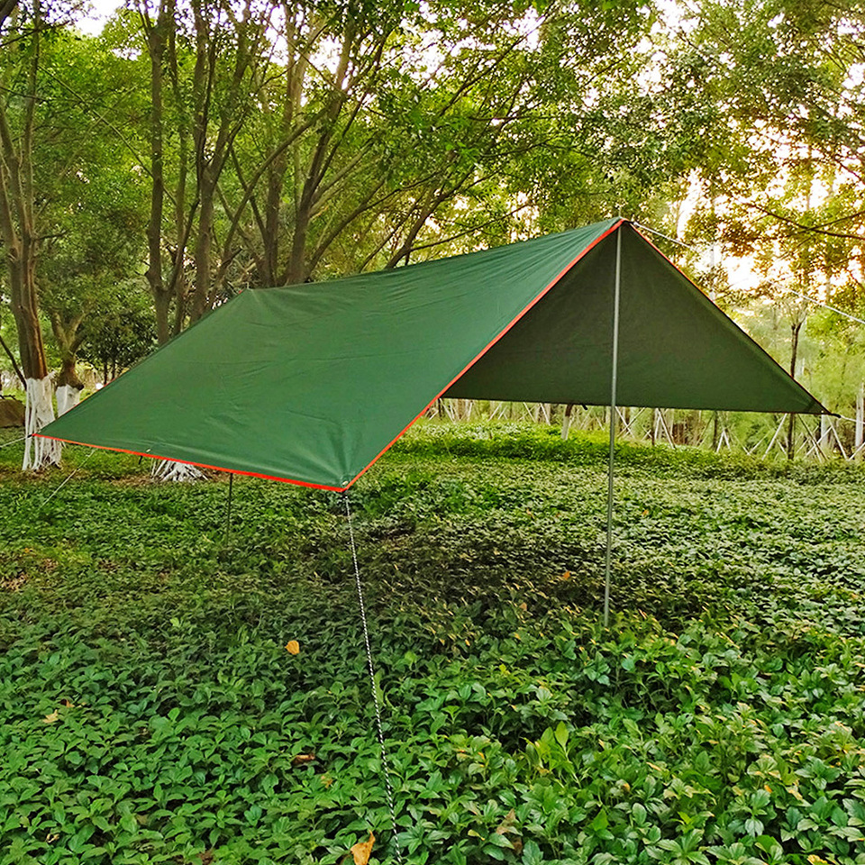 camping supervivencia Toldo impermeable ultraligero para senderismo playa pesca amarillo picnic