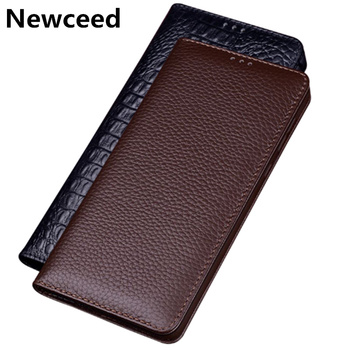 Genuine cowhide leather phone case for LG G8 ThinQ/LG G7 ThinQ flip card slot phone case for LG G6/LG G5/LG G4 flip leather case фото