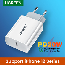 Ugreen 20W Quick Charge 4.0 3.0 PD Charger For iPhone 12 Pro X QC4.0 QC3.0 USB Type C Fast Charger For Xiaomi Phone PD Charger
