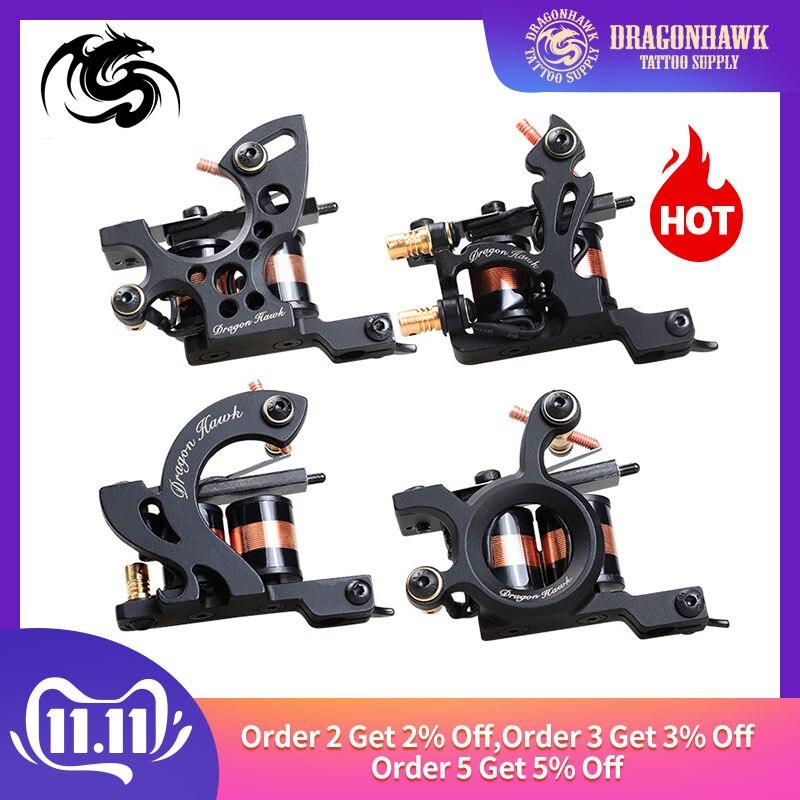 Top Quality Dragonhawk Tattoo Machine Iron Fine Lining Wrap Coils Guns Tattoo Supply