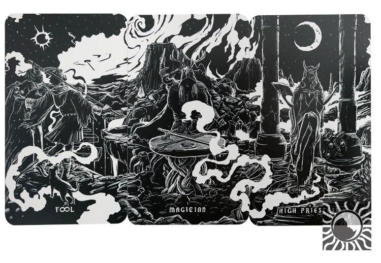 7x12cm Ombra Luce tarocchi tutto Inglese versione 88 pz/set boxed carta da gioco tarocchi scheda di gioco di carte - 6