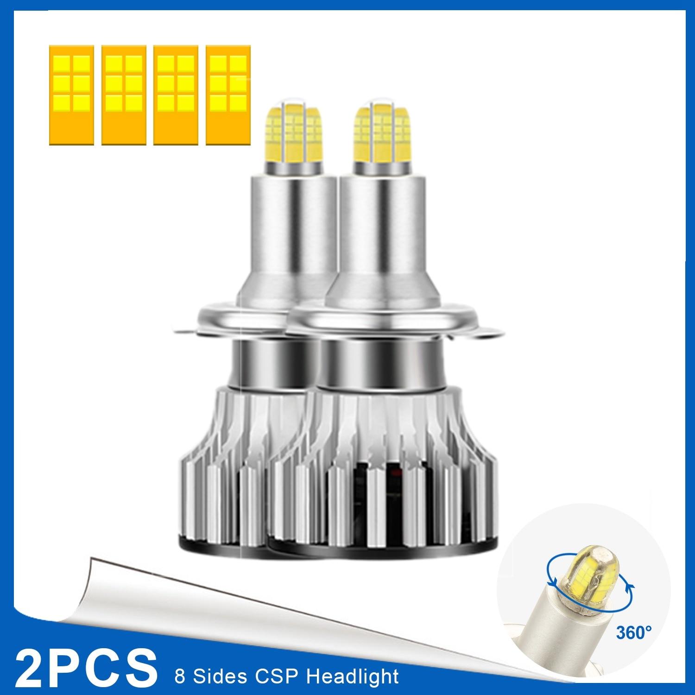 H7 светодиодный светильник на голову, 24 CSP 8 сторон 360 градусов Автомобильный светодиодный светильник ing, 120 Вт 18000LM 6500K противотуманный светильник, автомобильные лампы 2 шт.