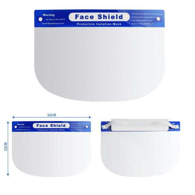 NEW Splash-Proof Protective Face Shield Reusable Full Face Protective Masks anti Saliva Protection Clear Visor Respirator 5
